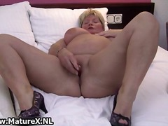 masturbation, stockings, granny,