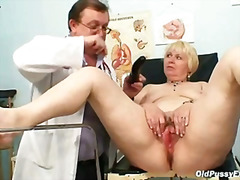 Chubby blond mom hairy...