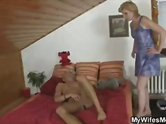 mature, cheating, mom, blowjob, blonde