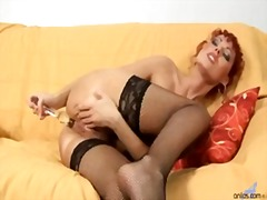 Redhead MILF and her l...