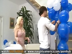 Busty blonde MILF Diamond Foxxx gives...