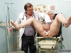 medical, blonde, mature, doctor,