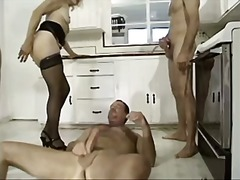 threesome, facials, guy, grannies,