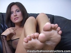 teacher, milf, feet, masturbation,