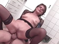 stockings, mature, anal, stocking,