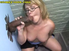 Busty blonde gets a bi...
