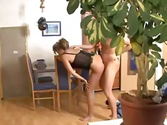 Blonde German mom is caught on spy ca...