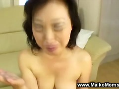 Japanese milf sucks co...