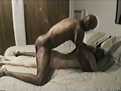 Drunk ebony stud fucking my wife
