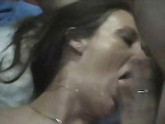 Amateur wife taking multiple loads