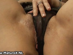 Horny mature wife in s...