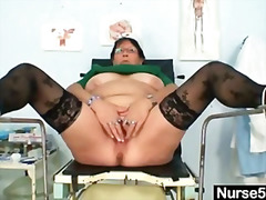 chubby, kinky, milf, speculum, old, amateur, fetish, mature, toy, bbw, lady, pussy, bizarre, mom, dildo, uniform, nurse, stockings, masturbation, glasses
