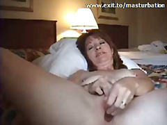 milf, dildo, solo, orgasm, toying, mature, masturbation