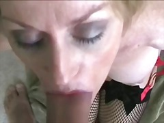 cougar, housewife, blonde, facial,
