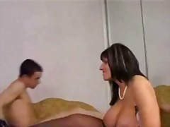 guy, young, milf, brunette, blowjob