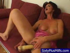Sexy mature intense fucking her toy