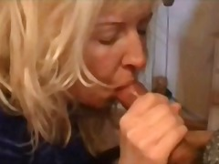 Mature blonde housewife gives a POV b...