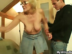 nylon, mature, reality, granny, blonde