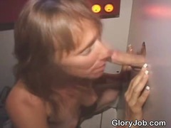 Brunette Sucks Dick And Fucked Through A Glory Hole