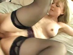 Busty cougar seduces her friends son ...