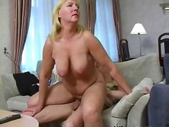 Busty blonde Russian a...