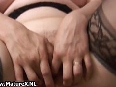 Granny with black stockings and big part1