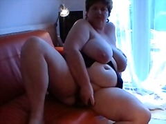 mature, brunette, bbw, masturbation,