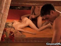 Horny Guy Preparing A Sexy Blonde Her...