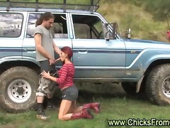hairy, redhead, amateur, outdoor, real, reality, couple, blowjob, mature, natural, girlfriend