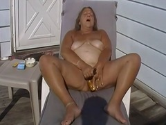 mature, curvy, solo, bbw, amateur, masturbation, outdoors, toys