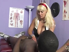 White granny taste big black cock