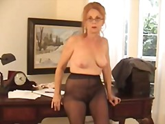 granny, stocking, hairy,