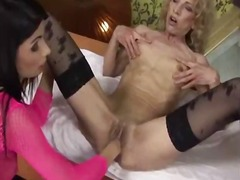 grannies, brunette, masturbation,