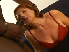 mature, stocking, redhead,