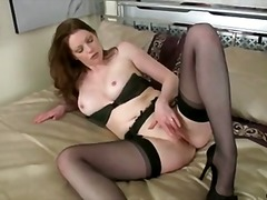 Cock Deprived housewife fucks her didlo.