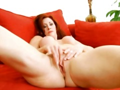 redhead, lady, masturbation, matures, mature