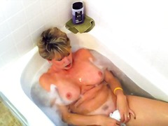 matures, shower, masturbation,