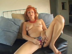 matures, masturbation, redhead, mature