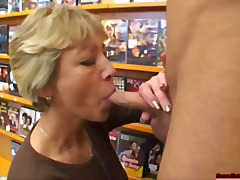Tanned cock-crazed mom creamed all ov...