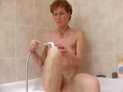 matures, milf, showers, mature, lady