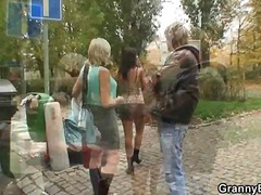 Granny prostitute fucked hard by youn...