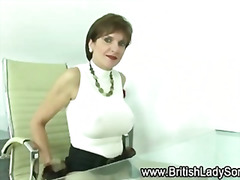 High heeled mature handjob