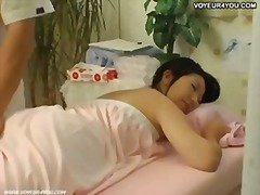 Tokyo girl seduced with massage