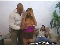 swinger, blonde, cuckold, wife,