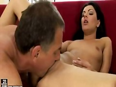 Old and young sex on c...
