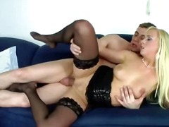 DrTuber Movie:blond in sexy stockings fucked...