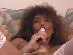Horny mature babe usin... video
