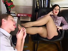 Footjob in the office - Xhamster
