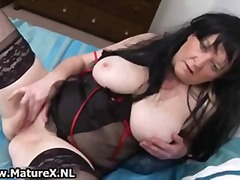 Granny in sexy black l...