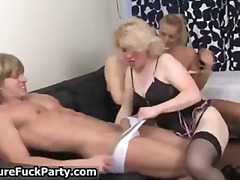 old, housewife, group, groupsex